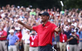 Tiger Woods wins first tournament in five years