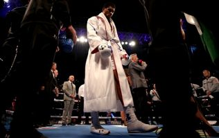 Anthony Joshua had to overcome illness to make it to the ring on Saturday night