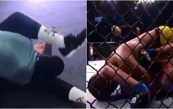 Sergio Moraes beat Ben Saunders by submission, then gave Saunders some pointers