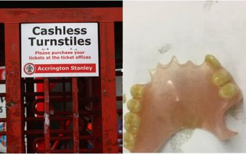 Accrington Stanley lose false teeth which were being held for fan who misplaced them