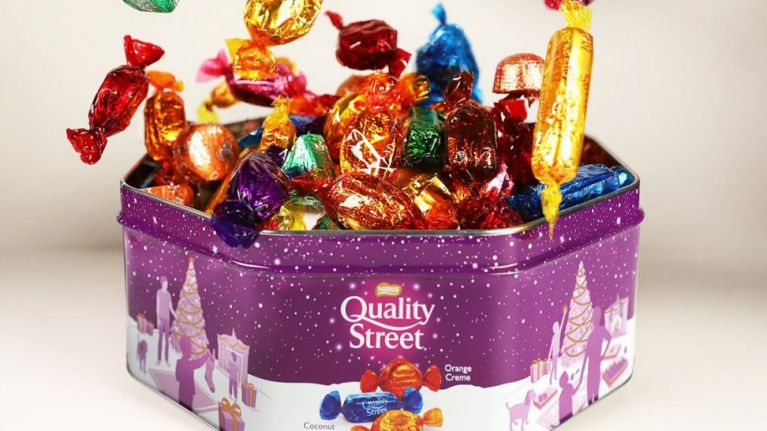 quality street  Build your own Quality Street tins are now a thing at John Lewis ...