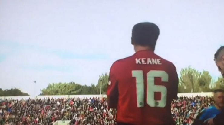 Roy Keane received a hero's reception at the Liam Miller Tribute Match