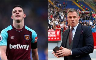 Jamie Carragher calls into radio show to discuss Declan Rice