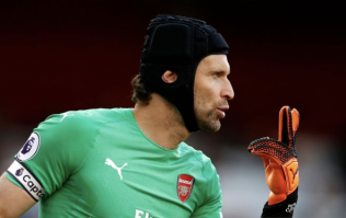 Petr Cech wears his helmet for contract negotiations on FIFA 19 Career Mode