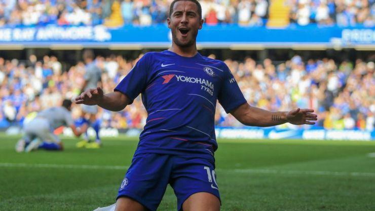 Eden Hazard commits to never doing a knee slide celebration again