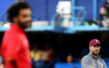 Jurgen Klopp rushed to Mo Salah after Daniel Sturridge's equaliser