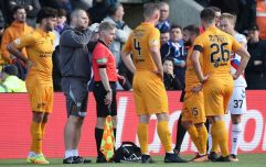 Linesman left bleeding after being hit by missile in Rangers' defeat to Livingston