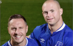 Everton welcome fan with Down's syndrome to take part in training session