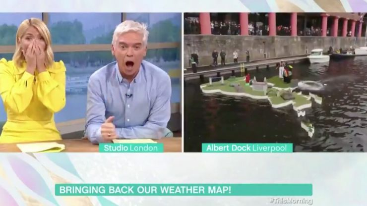 Alison Hammond pushes innocent man into the water live on This Morning