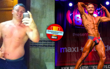 Party animal student drops 20 kilos to become bodybuilder