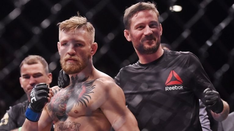 "John Kavanagh confirms second McGregor-Mayweather bout is ""being talked about"""