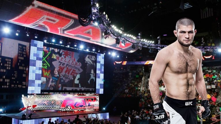 Khabib Nurmagomedov hints at switch to WWE