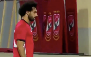 Mo Salah limps off after scoring for Egypt directly from a corner