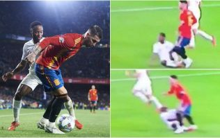 Raheem Sterling left writhing in pain after apparent stamp from Sergio Ramos