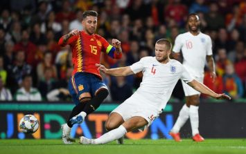 Eric Dier's tackle completely flattens Sergio Ramos as England earn famous win in Spain
