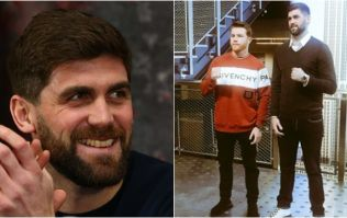 Liverpool's Rocky Fielding towers over 'Canelo' Alvarez in New York face-off