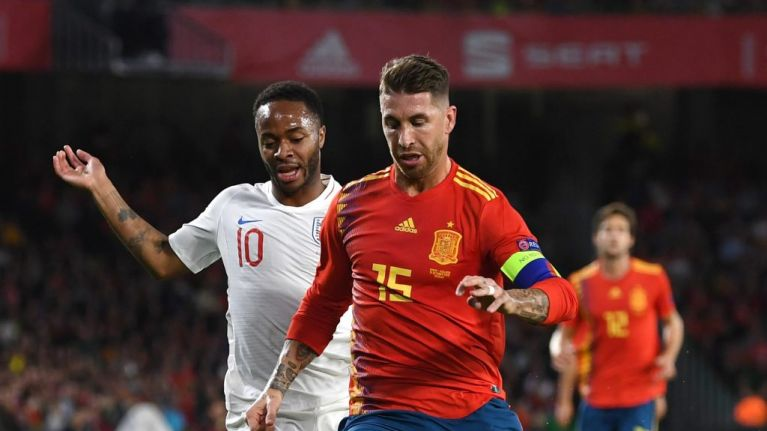 Sergio Ramos tweets video showing what really happened with him and Raheem Sterling
