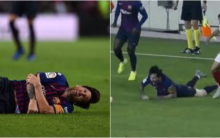 Lionel Messi picks up nasty arm injury against Sevilla, could miss El Clasico