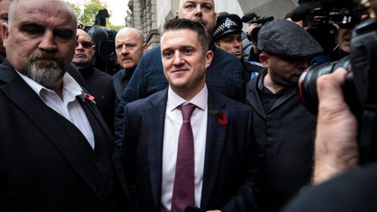 Tommy Robinson freed on bail as contempt of court case referred to the attorney general