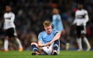 Kevin De Bruyne ruled out of Manchester derby with knee injury