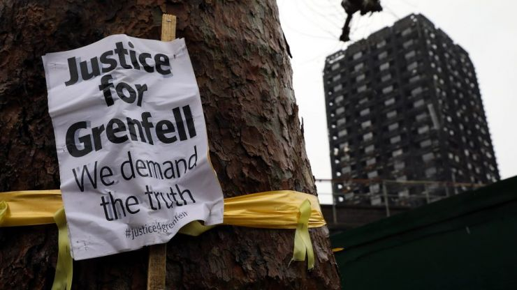 Five arrested for burning Grenfell Tower effigy