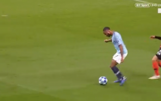 Raheem Sterling kicks the ground, falls over and wins penalty against Shakhtar Donetsk
