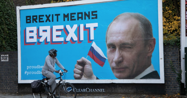 Parody billboards put up around London celebrating Putin's 'role' in Brexit | JOE.co.uk