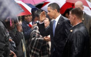 Donald Trump bombarded with pictures of Obama in the rain after WW1 cemetery no-show