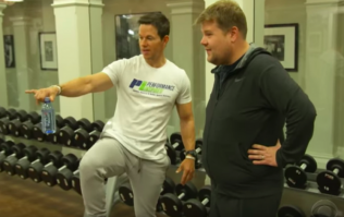 James Corden beasted in the gym by Mark Wahlberg at 4am