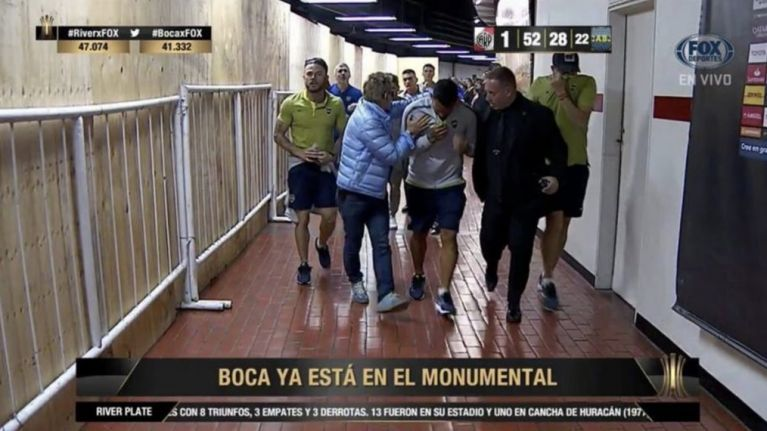 Copa Libertadores final delayed after Carlos Tevez and other Boca players attacked outside stadium
