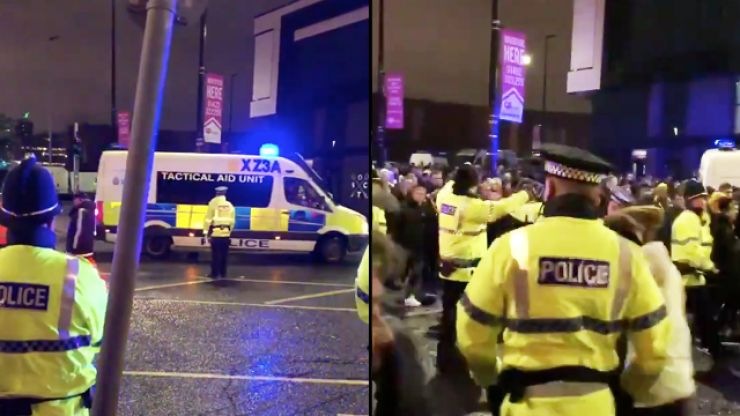 Chaotic scenes ahead of Manchester United's game with Young Boys