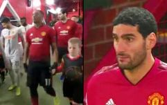 Unreal scenes at Manchester United as Marouane Fellaini appears to LOSE a child