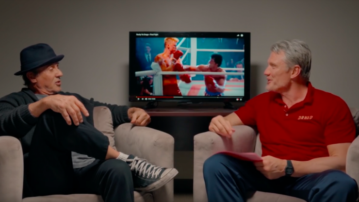 WATCH: Sylvester Stallone and Dolph Lundgren watch Rocky IV together