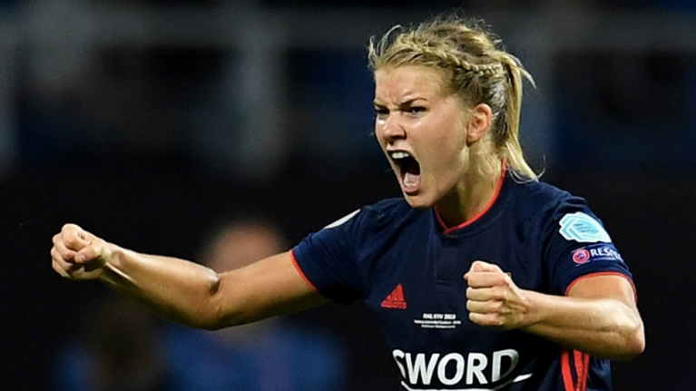 Ada Hegerberg's face says it all after being asked to 'twerk' when crowned best footballer on the planet
