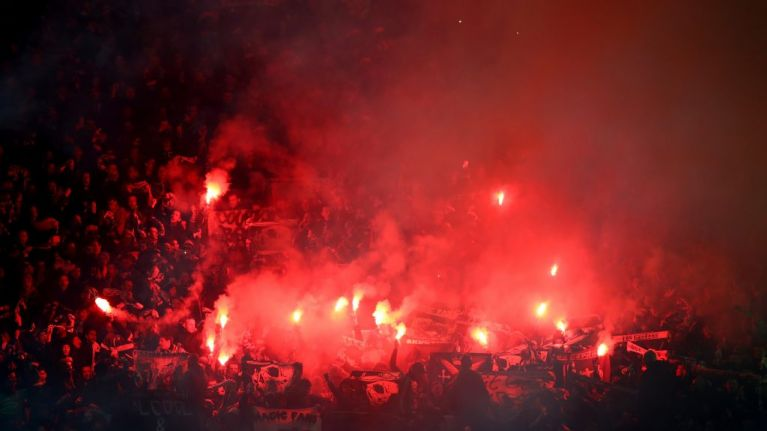 """""""We've had kids that have had flares caught in the hood of their anorak"""" - MUDSA request permanent protection at Old Trafford"""
