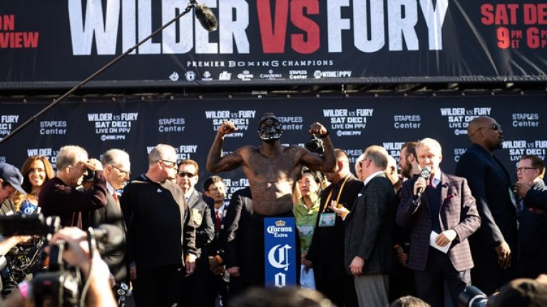 Deontay Wilder actually lost weight between the weigh-ins and fight night