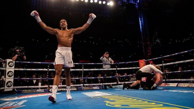 Frank Warren reveals fighter he's heard will fight Anthony Joshua on April 13