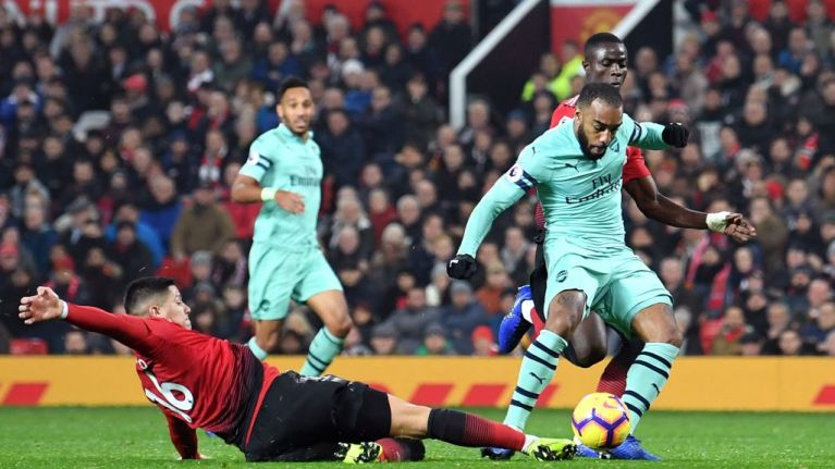 Lacazette and Arsenal teammates tweet Premier League about Marcos Rojo own goal