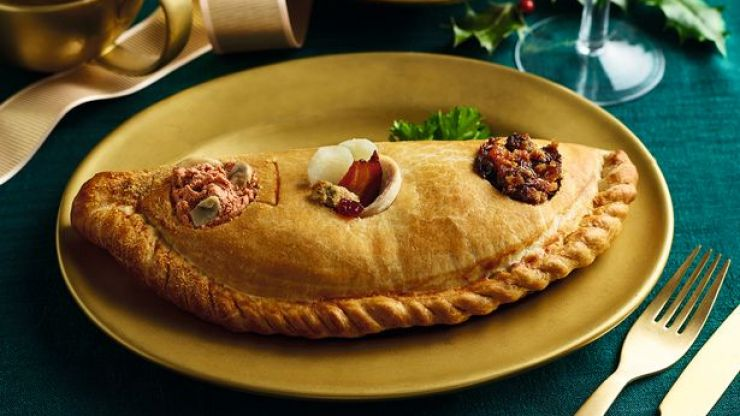 Morrisons is selling all three courses of Christmas dinner in a giant pasty