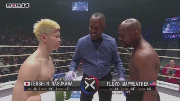 Floyd Mayweather finishes Tenshin Nasukawa in first round