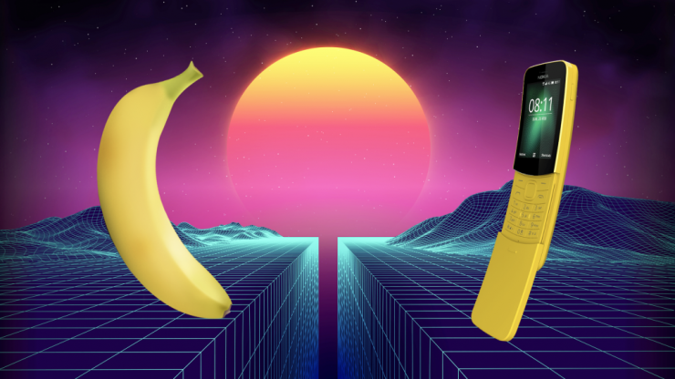 Which is better - Nokia's 8110 banana phone or an actual banana?