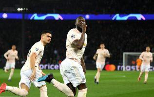 Romelu Lukaku turned towards Di Maria immediately after Manchester United's late goal