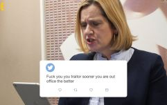 Amber Rudd reads the vile abuse she receives on a daily basis