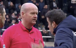 Marco Silva confronts Lee Mason and officials after Everton lose at Newcastle