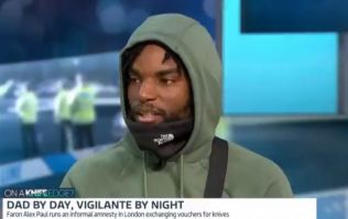 Knife crime vigilante raises laughter after walking out live on Good Morning Britain