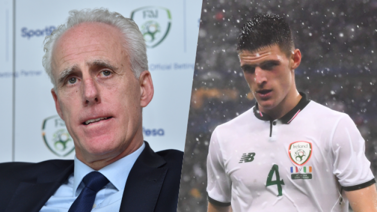 Mick McCarthy adamant Declan Rice should not have won FAI Young Player of the Year award