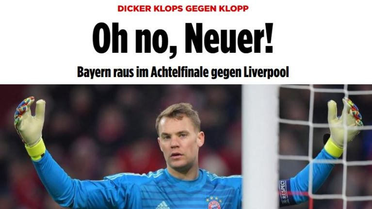 German press slam Neuer and 'second rate' Bayern Munich after Liverpool shock