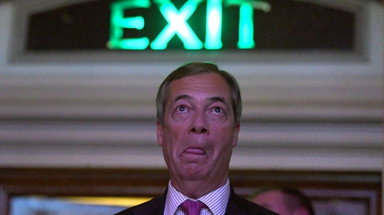 Only 350 people signed up for Nigel Farage's Brexit Betrayal March