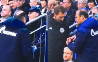 Schalke manager hands fourth official some sweets to apologise for shouting at him