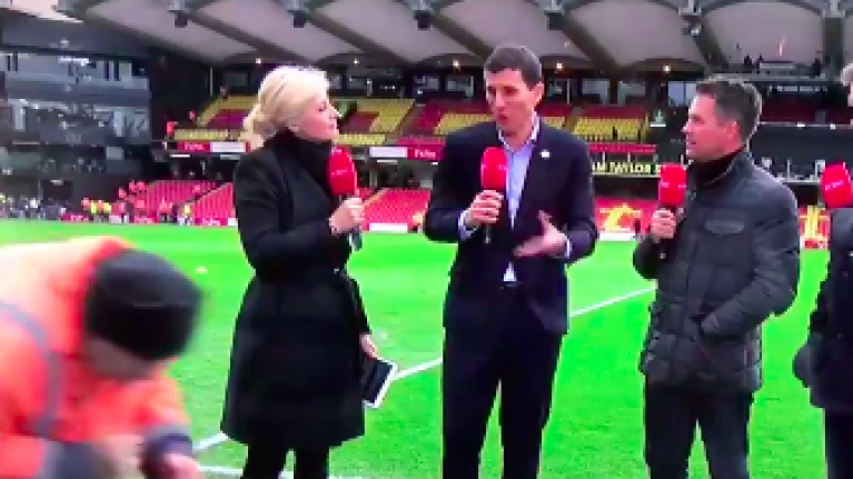 Stealthy Watford steward almost makes it past BT Sport cameras unnoticed